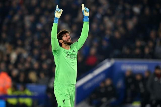 Number One: Liverpool's Alisson Becker has kept nine clean sheets in his last 10 Premier League games (AFP Photo/Oli SCARFF )