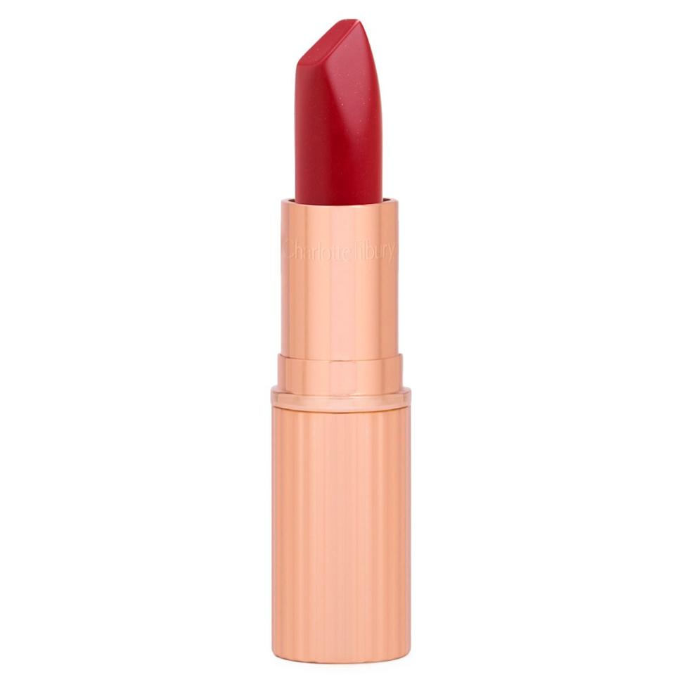 """<p>Charlotte Tilbury never fails to catch our attention, like when she launched a line of <a href=""""https://www.realsimple.com/beauty-fashion/makeup/charlotte-tilbury-queen-lipstick"""" target=""""_blank"""">lipsticks inspired by Kate Middleton and Queen Elizabeth</a>. And of course she makes a showstopping red that's garnered lots of attention. Red Carpet Red is just as the name implies: a classic ruby red with old Hollywood charm. </p> <p><strong>To buy: </strong>$34, <a href=""""http://prf.hn/click/camref:1011l5epi/pubref:RS%2C9ClassicRedLipstickswithaCultFollowing%2Ckholdefehr1271%2CMAK%2CIMA%2C638165%2C201812%2CI/destination:https%3A%2F%2Fwww.charlottetilbury.com%2Fus%2Fmatte-revolution-red-carpet-red.html"""" target=""""_blank"""">charlottetilbury.com</a>. </p>"""
