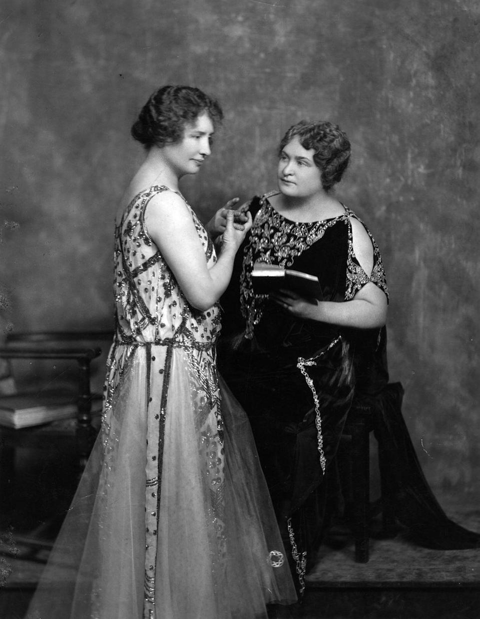 <p>Teacher Anne Sullivan worked with Helen Keller, a young woman who was blind and deaf since she was an infant, teaching her how to communicate with the world around her.</p>