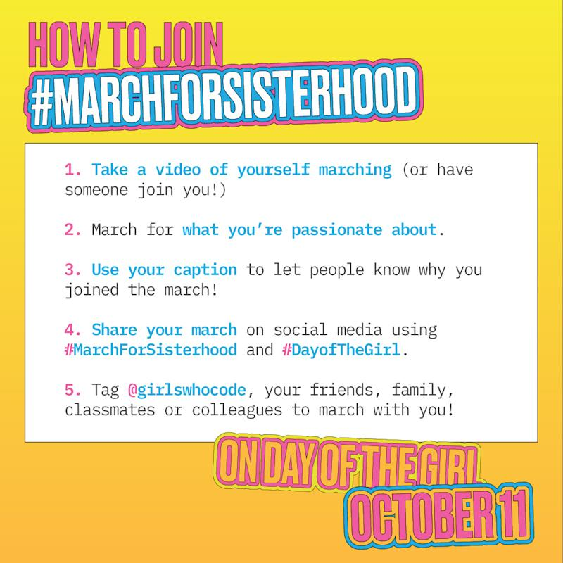 The #MarchForSisterhood aims to unite women, girls, and allies to create the biggest online march in history.