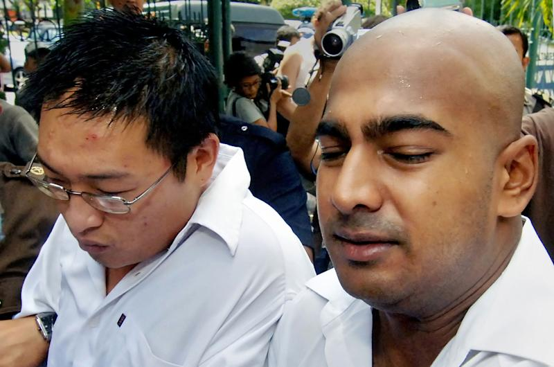 Australians Andrew Chan (L) and Myuran Sukumaran, seen here in 2006, are on death row in Indonesia for drug smuggling (AFP Photo/Jewel Samad)