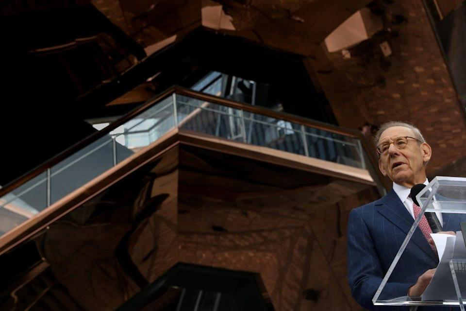 """<div class=""""inline-image__caption""""><p>Stephen Ross at the opening of Hudson Yards and The Vessel in 2019.</p></div> <div class=""""inline-image__credit"""">Reuters</div>"""
