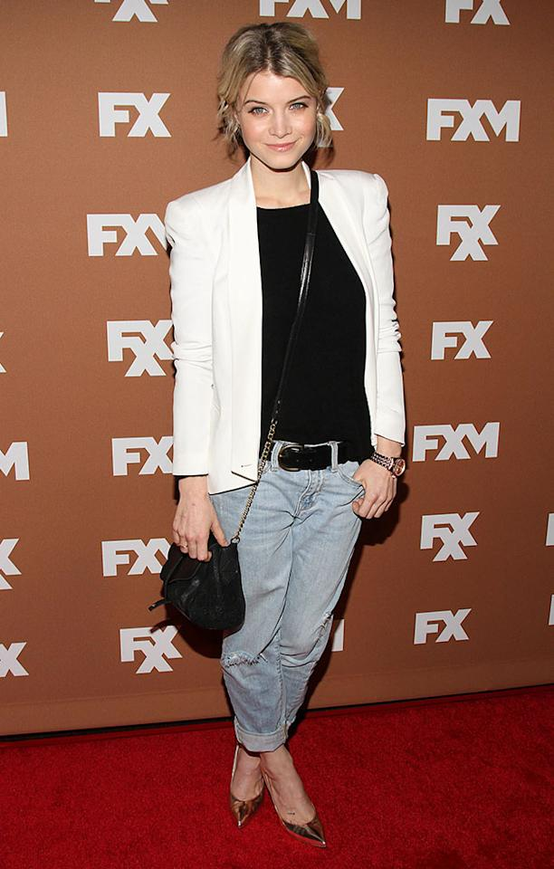 Sarah Jones attends the 2013 FX Upfront Bowling Event at Luxe at Lucky Strike Lanes on March 28, 2013 in New York City.
