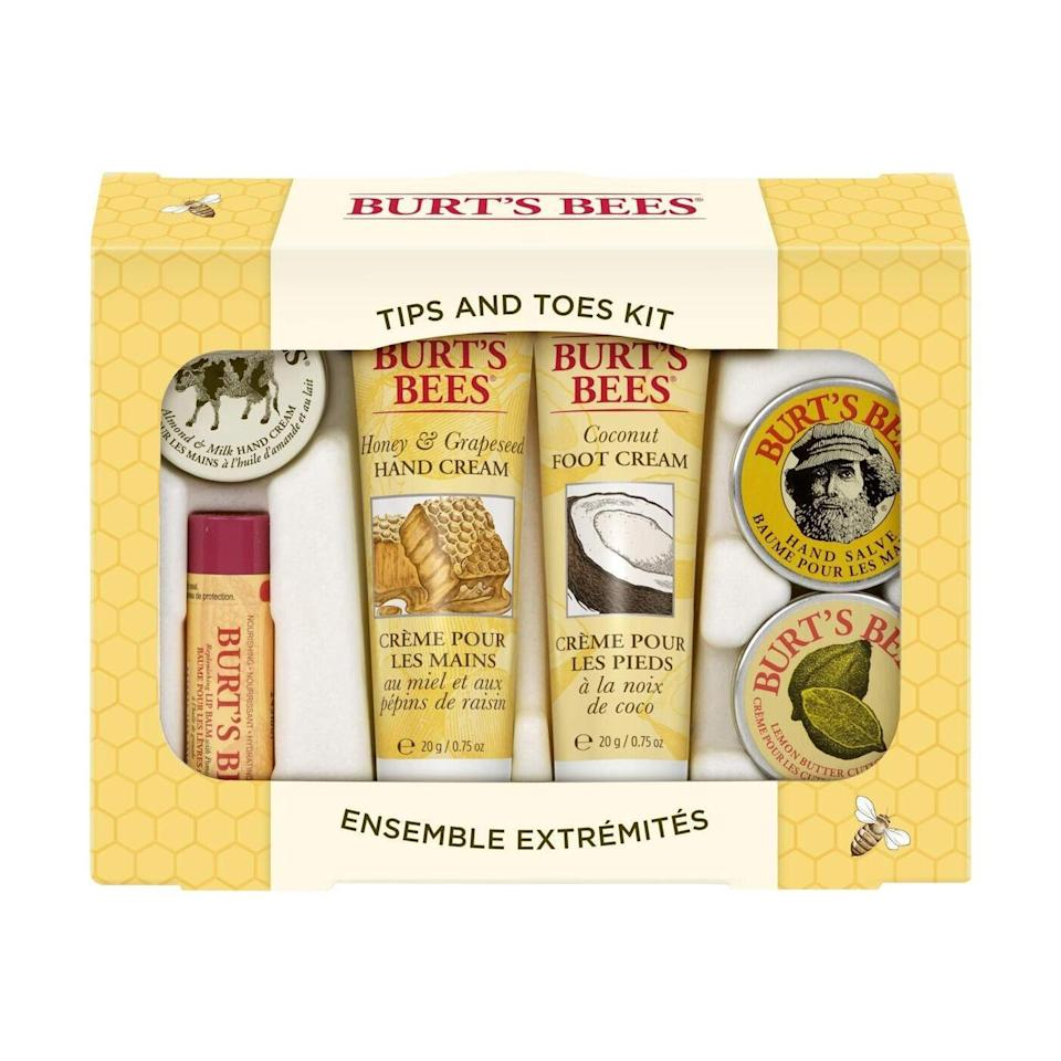 For head-to-toe moisturizing, behold: Burt's Bees Tips and Toes Kit. It comes with travel-size moisturizers for your hands, feet, cuticles, and lips. It's a great collection for any existing fans of the brand — not to mention a sweet intro for a grad who's never tried it.