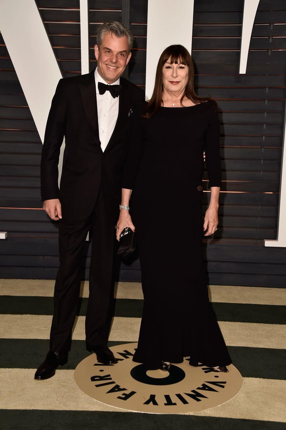 <p>Danny and Anjelica Huston both followed their Hollywood director father into show business. The actors have the same square chin and prominent jaw that their father, John Huston, was known for. </p>