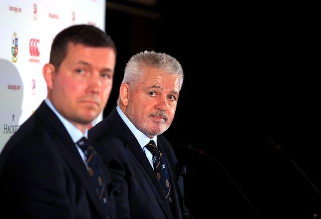 Lions managing director Ben Calveley (left) and head coach Warren Gatland (right) will be hoping the tour can be saved