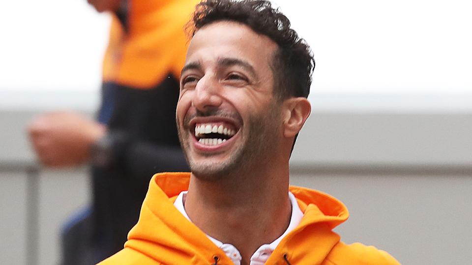 Daniel Ricciardo is still determined to hold former Renault F1 boss Cyril Abiteboul to their tattoo bet from the 2020 season. (Photo by Sergei Fadeichev\TASS via Getty Images)