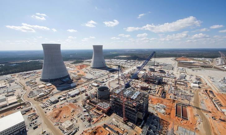 FILE PHOTO: The Vogtle Unit 3 and 4 site, being constructed by primary contactor Westinghouse near Waynesboro