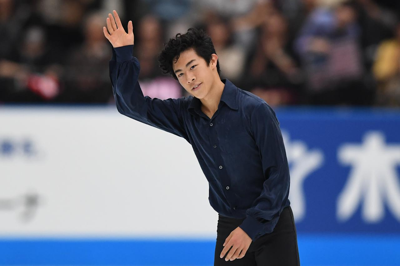 <p>Nathan Chen is the first skater to land six quadruple jumps in the Olympics. He won a bronze medal with Team USA's third place finish in the team figure skating event at the 2018 Winter Olympics.<br />(Photo by Takashi Aoyama/Getty Images) </p>