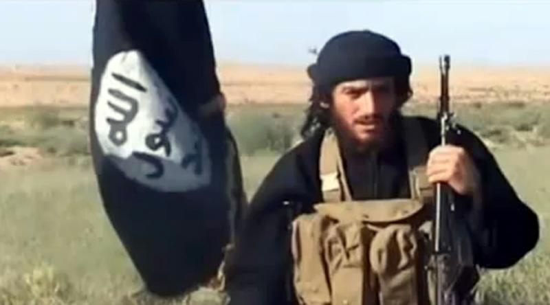 "The Russian defense ministry claimed a warplane killed ""up to 40"" IS fighters -- including Islamic State group spokesman Abu Mohamed al-Adnani (pictured) -- in a bombing raid in Aleppo province Tuesday (AFP Photo/YouTube)"