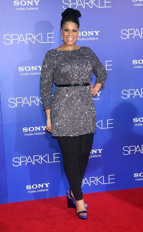 """HOLLYWOOD, CA - AUGUST 16:  Casting agent Twinkie Byrd arrives at the Los Angeles Premiere of """"Sparkle"""" at Grauman's Chinese Theatre on August 16, 2012 in Hollywood, California.  (Photo by Maury Phillips/Getty Images For A+E Networks)"""