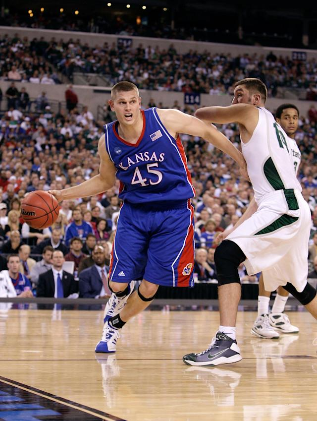 <p>13 points, 20 rebounds, 10 blocks vs. Dayton, Midwest Regional second round, March 22, 2009. </p>
