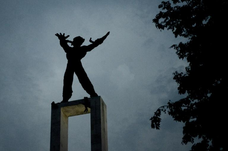 This statue commemorates the movement for the freedom of West Irian, now renamed Papua, from Dutch occupation in 1963