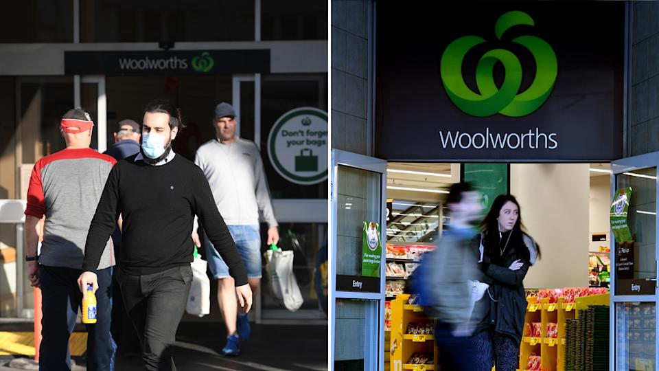 Woolworths shoppers have been encouraged to spend less time in store. Source: Getty Images/ AP