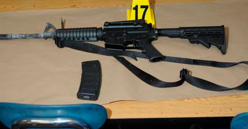 Adam Lanza brought this Bushmaster rifle to Sandy Hook Elementary School on the day of the shooting.