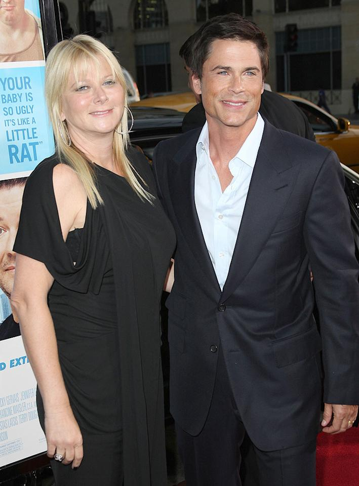 "<a href=""http://movies.yahoo.com/movie/contributor/1800012194"">Rob Lowe</a> and guest at the Los Angeles premiere of <a href=""http://movies.yahoo.com/movie/1810022054/info"">The Invention of Lying</a> - 09/21/2009"