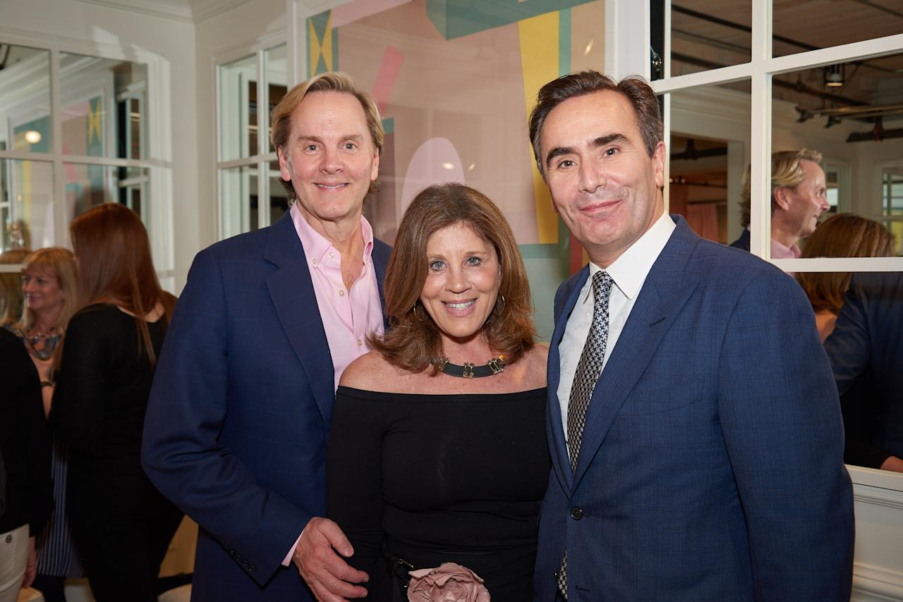 Designers Jeffrey Bilhuber and Suzanne Kasler with Pierre de Villeméjane, President & CEO, Heritage Home Group