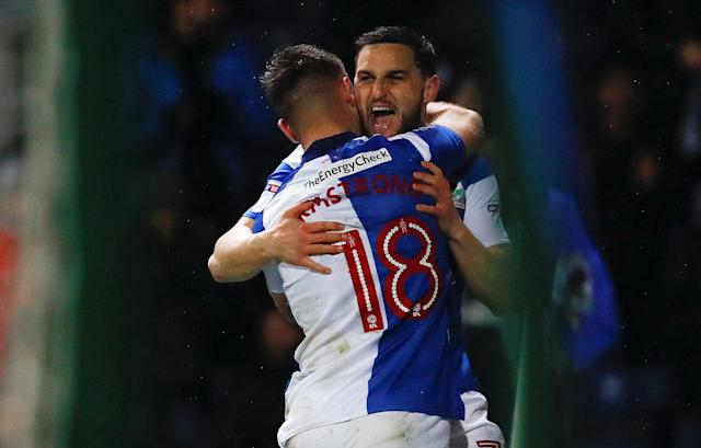 "Soccer Football - League One - Blackburn Rovers vs Bradford City - Ewood Park, Blackburn, Britain - March 29, 2018 Blackburn Rovers Craig Conway celebrates scoring his sides second goal Action Images/Jason Cairnduff EDITORIAL USE ONLY. No use with unauthorized audio, video, data, fixture lists, club/league logos or ""live"" services. Online in-match use limited to 75 images, no video emulation. No use in betting, games or single club/league/player publications. Please contact your account representative for further details."