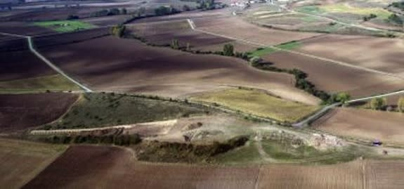 An aerial view of the deserted Alavese village at Zornostegi.