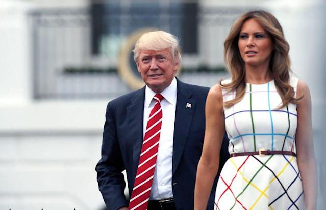 <em>President Trump with first lady Melania Trump [Photo: Alex Brandon/AP]</em>
