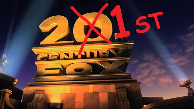News Flash: Twentieth Century Fox Is Now 21st Century Fox