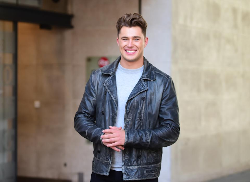 Curtis Pritchard outside Radio 1 studios where he announced that will join The Greatest Dancer as the receptionist.