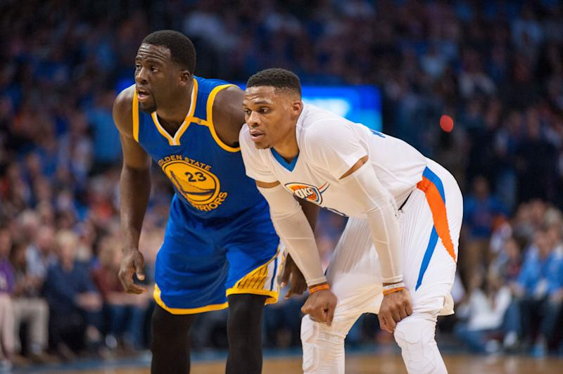 Warriors' Draymond Green, Thunder's Russell Westbrook voted most overrated by National Basketball Association players