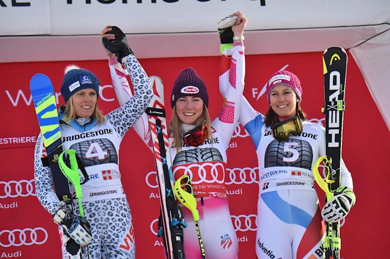 Shiffrin peerless as she equals record in St Moritz slalom