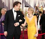 """<p>Michelle Williams' and the late Heath Ledger's on-screen marriage wasn't the primary romance of Ang Lee's 2005 film Brokeback Mountain, but it is where the two connected. Following difficult scenes, 'Heath would wrap her in his arms and say, """"I'm sorry I was rough on you"""",' <a href=""""https://people.com/archive/cover-story-heath-and-michelle-a-fairy-tale-gone-wrong-vol-69-no-5/"""" rel=""""nofollow noopener"""" target=""""_blank"""" data-ylk=""""slk:a source told People"""" class=""""link rapid-noclick-resp"""">a source told People</a>. 'He was just very protective.' The couple had a daughter together, but they split a year before Heath's death in 2008.</p>"""