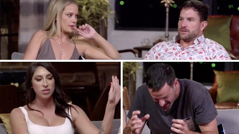 All hell broke loose tonight when Dan and Jessika's secret affair was revealed on Married At First Sight. Photo: Channel Nine