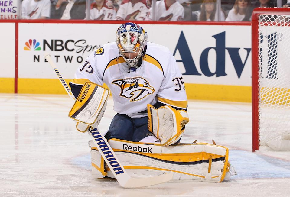<b>Pekka Rinne</b><br> The two-time Vezina Trophy nominee signed a seven-year $49 million contract with Nashville in November. Annual salary: $7M