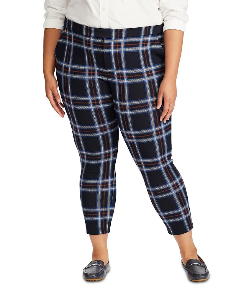 Ralph Lauren Plaid Jaquard Pants. (Photo: Macy's)