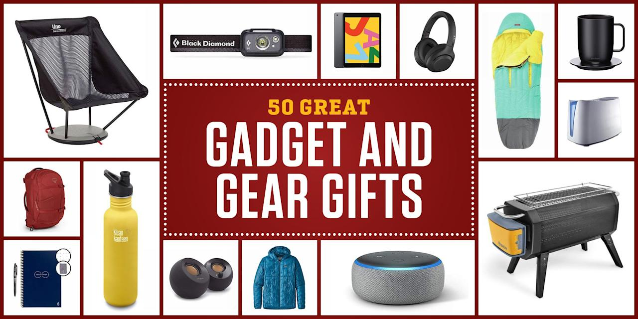 "<p>Everybody has a few gadgets or pieces of gear on their wish list that they may not <em>need </em>enough to buy themselves, but definitely want to improve their lives all year round. Whether you're shopping for an <a href=""https://www.popularmechanics.com/technology/gadgets/g24074239/outdoor-gifts/"" target=""_blank"">outdoor lover</a>, <a href=""https://www.popularmechanics.com/home/tools/reviews/g1358/12-great-tool-gifts-for-diyers/"" target=""_blank"">DIYer</a>, or tech enthusiast, we found the gadgets and gear that they're probably yearning for this year. From the latest wireless headphones to smart home devices to rugged boots and apparel, this list has something for everyone. But if you're still not finding the perfect present, browse more specific <a href=""https://www.popularmechanics.com/holiday-gift-guide/"" target=""_blank"">gift guides</a> we've compiled for the holidays.<br> </p>"