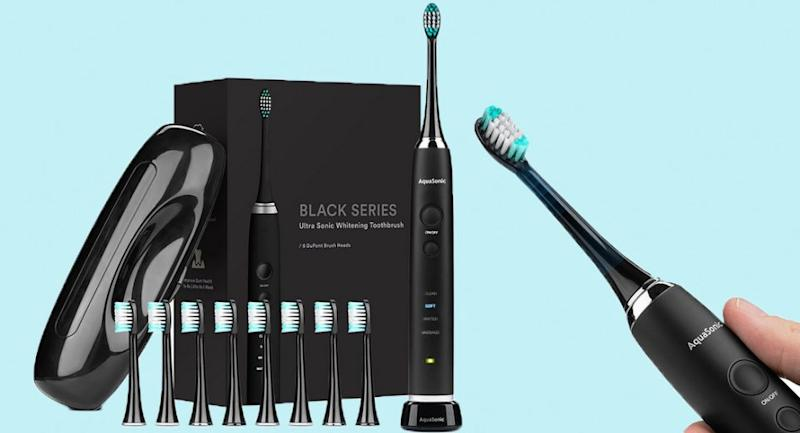 It removes up to TEN TIMES more build-up than an ordinary toothbrush. (Photo: Amazon)