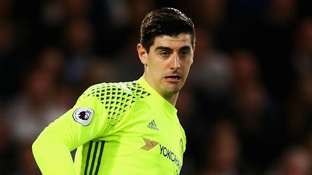 Thibaut Courtois has returned to training and is fit to face Tottenham, while Antonio Conte has brushed off rumours of a Diego Costa exit.