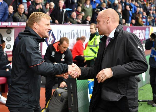 Eddie Howe (left) and Sean Dyche were both linked with Palace