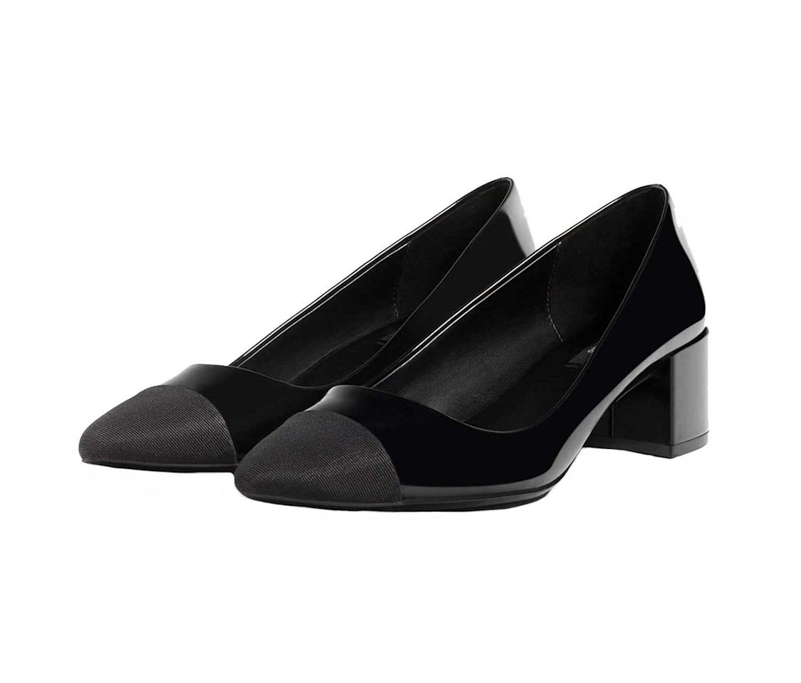 "<p>Midheel shoes with contrasting toe cap, $40, <a rel=""nofollow"" href=""http://www.zara.com/us/en/woman/shoes/view-all/mid-heel-shoes-with-contrasting-toe-cap-c734142p3610084.html"">Zara.com</a>   </p>"