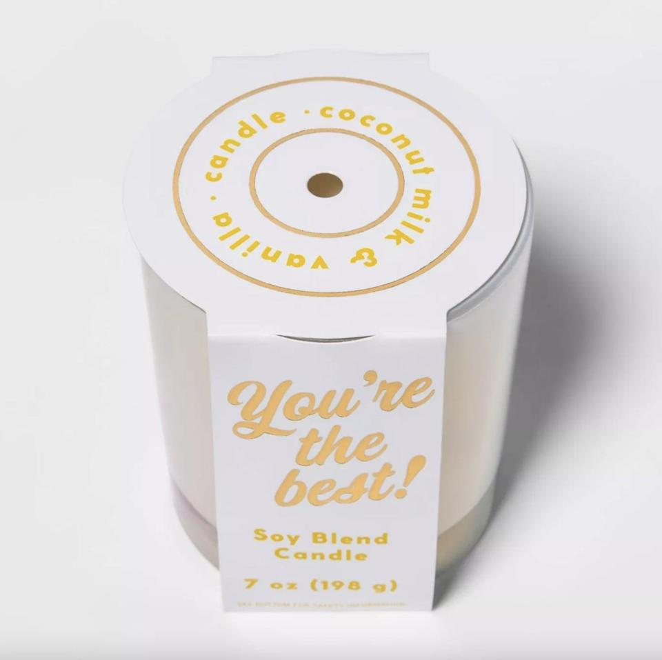 <p>This sweet-smelling <span>Coconut Milk and Vanilla Candle</span> ($8) would be a really nice gift.</p>