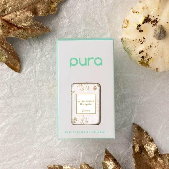 <p>Instead of the candle route, you can count on <span>Pura's White Gilded Pumpkin Home Fragrance Oil</span> ($9) to enhance the seasonal ambiance of your space with its pumpkin, beeswax, sandalwood, and cinnamon scent blend. Even better, it's pet-friendly and lasts up to 350 hours.</p>