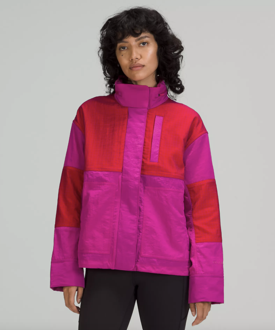 bright pink and red Water-Repellent Mesh Jacket