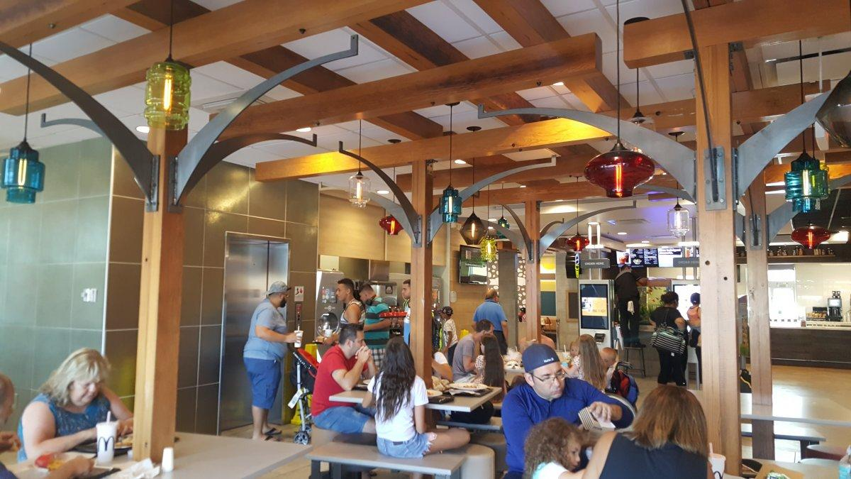 <p>An indoor pergola towers over the tables by the entrance, which were all full around 4:30 p.m. on a Tuesday. </p>