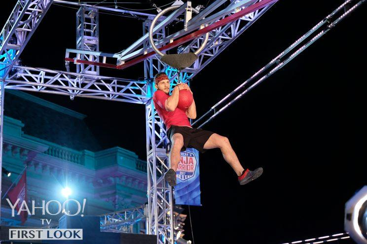Adam Rayl in American Ninja Warrior (Photo: Tyler Golden/NBC)