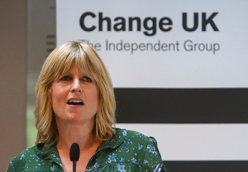 Boris Johnson's sister Rachel stood as a candidate for the anti-Brexit party Change UK in this week's EU parliamentary elections (AFP Photo/GEOFF CADDICK)