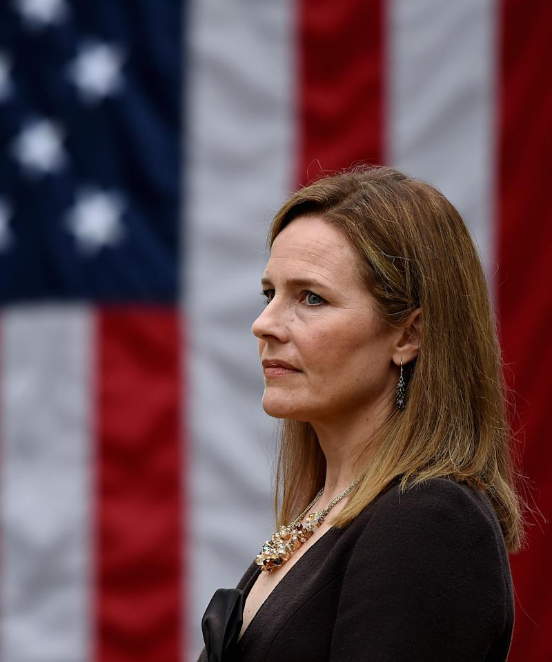Supreme Court nominee Amy Coney Barrett on Sept. 26, 2020, in Washington, D.C.