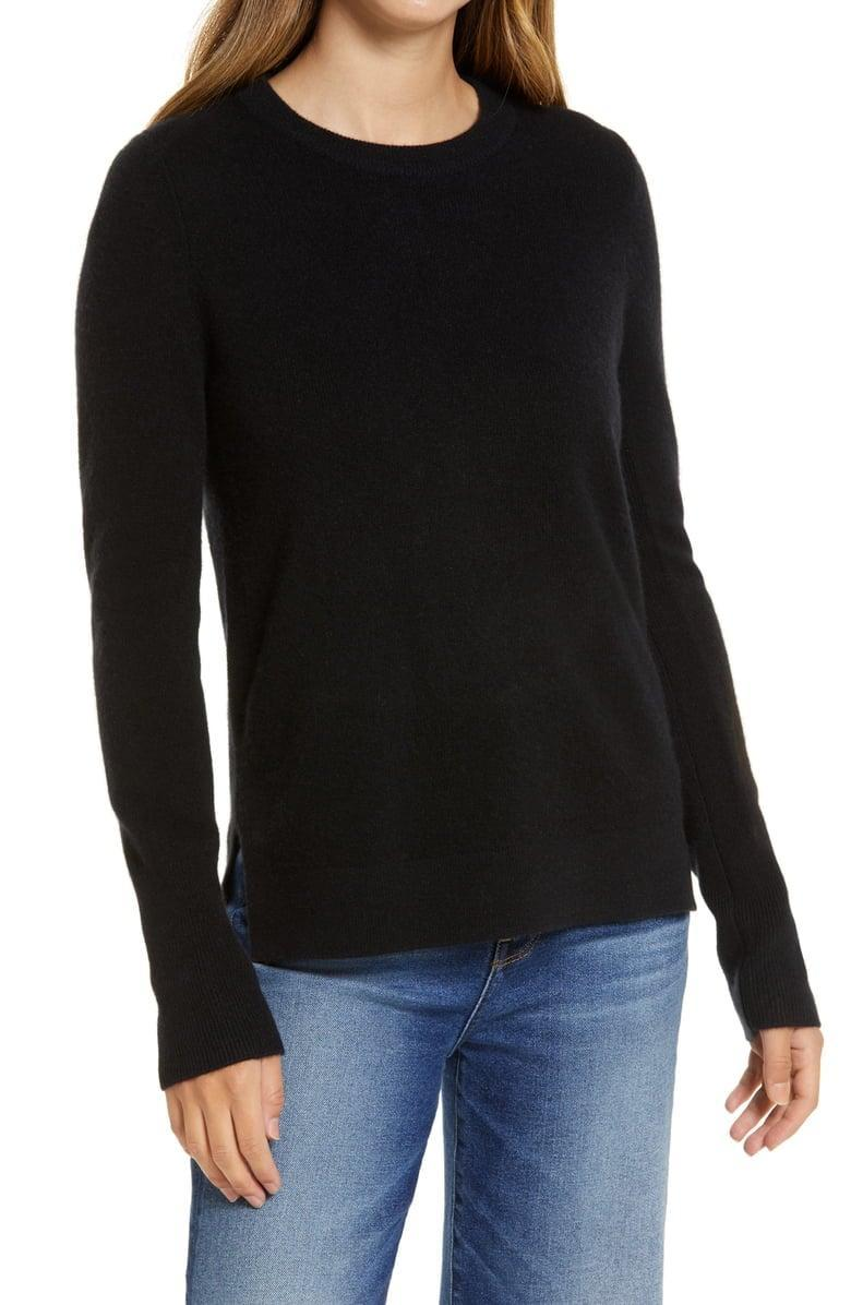 <p>There's nothing more luxurious than this <span>Halogen Crewneck Cashmere Sweater</span> ($58, originally $98).</p>