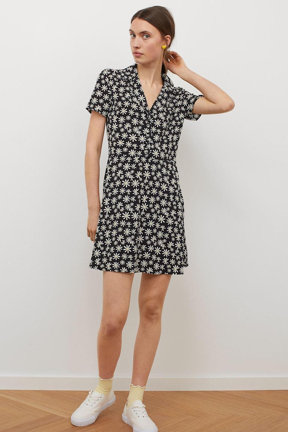 <p>This <span>H&amp;M Shirt Dress</span> ($13) is effortlessly chic with a modern silhouette.</p>