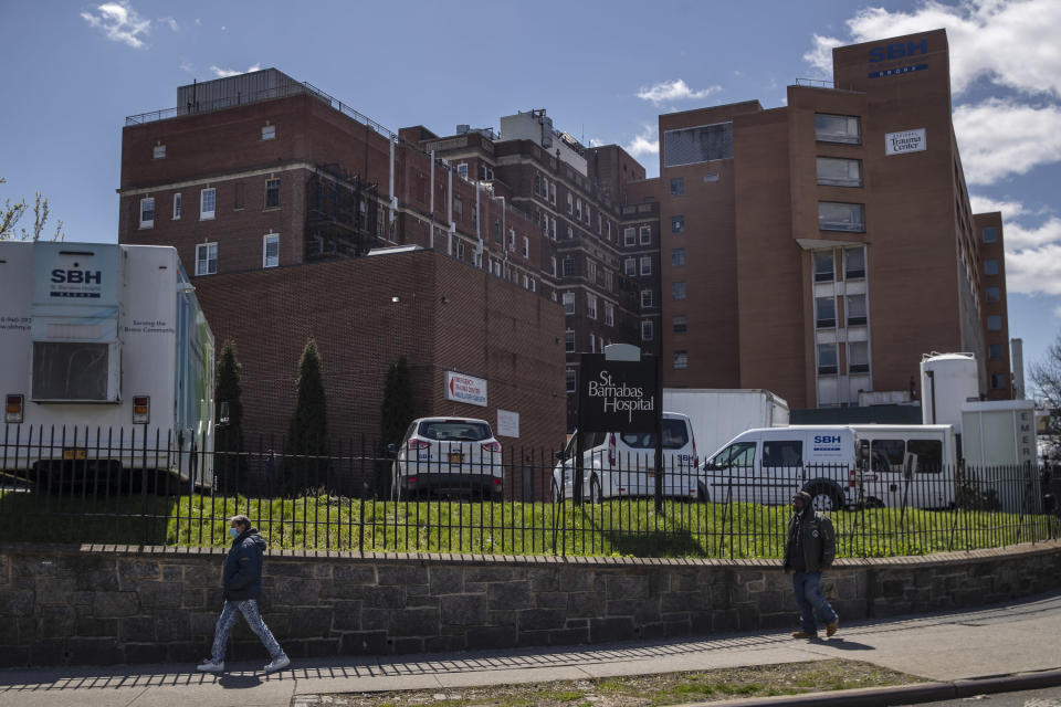 St. Barnabas Hospital in the Bronx, April 11, 2020. (Victor J. Blue/The New York Times)