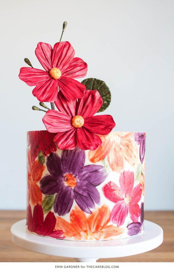 """<p>Mom will be stunned by this beautiful white chocolate-wrapped floral cake. Bust out your paint brushes to paint this magnificent design! </p><p><strong>Get the tutorial at <a href=""""http://thecakeblog.com/2015/04/chocolate-floral-wrap.html"""" rel=""""nofollow noopener"""" target=""""_blank"""" data-ylk=""""slk:The Cake Blog"""" class=""""link rapid-noclick-resp"""">The Cake Blog</a>.</strong> </p>"""