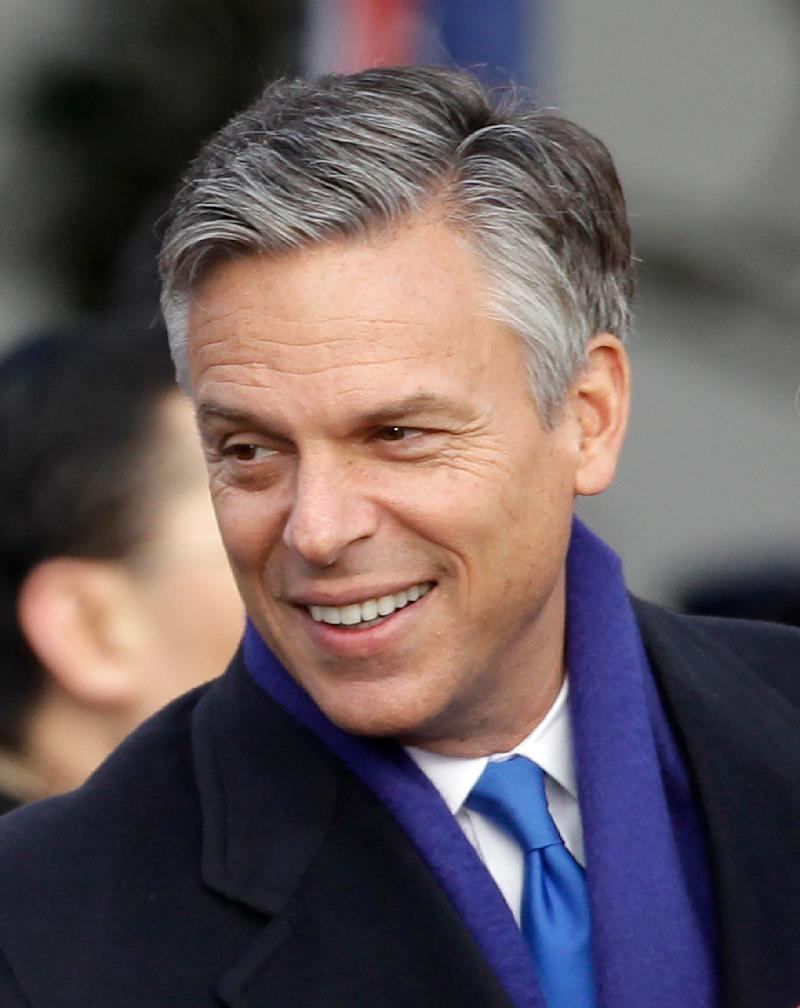 """FILE - In this Jan. 19, 2011 file photo, outgoing U.S. Ambassador to China Jon Huntsman is seen at the White House in Washington. The U.S. is tweaking China for its online blocking of the American ambassador's name. Searches Huntsman's name in Chinese on a popular microblogging site called Sina Weibo were met with a message Friday that said results were unavailable due to unspecified """"laws, regulations and policies."""" (AP Photo/Charles Dharapak, File)"""