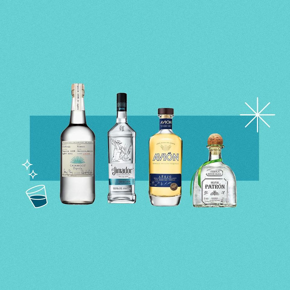 "<p>When it comes to tequila, there is way more to it than meets the eye. While margaritas are objectively delicious, tequila can be used for other <a href=""https://www.delish.com/holiday-recipes/cinco-de-mayo/g2418/tequila-drinks-recipes/"" rel=""nofollow noopener"" target=""_blank"" data-ylk=""slk:mixed cocktails"" class=""link rapid-noclick-resp"">mixed cocktails</a> and enjoyed neat or on the rocks. Depending on how you plan to drink it will help you decide what bottle to go for at the liquor store, and you'll never have to be perplexed by the number of options on the shelf with this list. But, first things first, we need to go through a little background behind the three main types of tequila: blanco, reposado, and añejo.</p><p>The difference is all in the aging process. Blanco (sometimes called silver) is un-aged tequila, and is usually bottled very soon after it's distilled. As the name suggests, blanco tequila is the clearest in color and goes well in mixed drinks or as a complement to <a href=""https://www.delish.com/cooking/g1393/traditional-mexican-food-0710/"" rel=""nofollow noopener"" target=""_blank"" data-ylk=""slk:Mexican dishes"" class=""link rapid-noclick-resp"">Mexican dishes</a>. Reposado tequilas are rested for two months to a year before being bottled up, and typically rest in oak barrels so they take on a bit of a gold color through the process. Añejo is aged for at least one year (but less than three years), giving it a gold or light brown color compared to the others. This longer aging process gives it more complex flavors that can be better appreciated when sipped alone rather than mixed into a cocktail.<br></p><p>Want something besides tequila? These are the best <a href=""https://www.delish.com/entertaining/g31213317/best-vodka-brands/"" rel=""nofollow noopener"" target=""_blank"" data-ylk=""slk:vodkas"" class=""link rapid-noclick-resp"">vodkas</a> and <a href=""https://www.delish.com/entertaining/g30705067/best-whiskey-brands/"" rel=""nofollow noopener"" target=""_blank"" data-ylk=""slk:whiskeys"" class=""link rapid-noclick-resp"">whiskeys</a> you can buy. </p>"